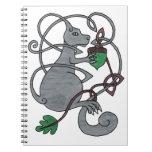 Gray squirrel notebook