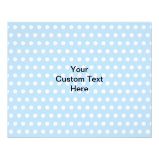 Gray Squirrel on Blue Polka Dot Pattern Flyer
