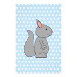 Gray Squirrel on Blue Polka Dot Pattern Custom Flyer