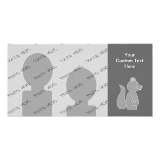 Gray Squirrel Personalized Photo Card