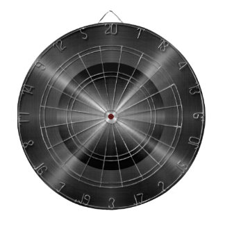 Gray Stainless Steel Metal Dartboard