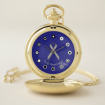 Gray Standard Ribbon (Bf) by K Yoncich Pocket Watch