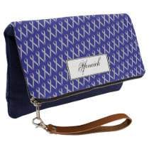 Gray Standard Ribbon by Kenneth Yoncich Clutch