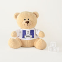 Gray Standard Ribbon by Kenneth Yoncich Teddy Bear