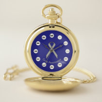 Gray Standard Ribbon (Mf) by K Yoncich Pocket Watch