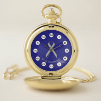 Gray Standard Ribbon (Rf) by K Yoncich Pocket Watch