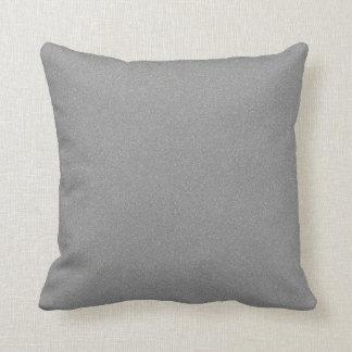 Gray Star Dust Throw Pillow