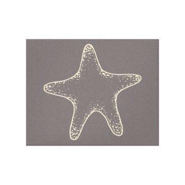 Beach Themed Gray Starfish Wall Art