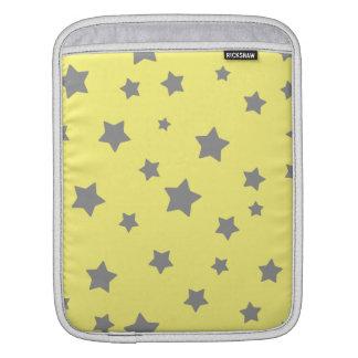 Gray Stars Yellow Pattern iPad Sleeve