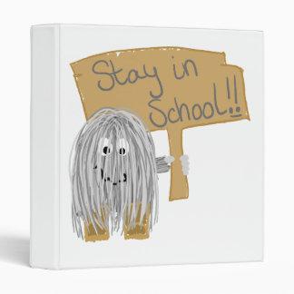 Gray stay in School 3 Ring Binder