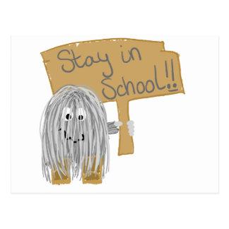 Gray stay in School Postcard