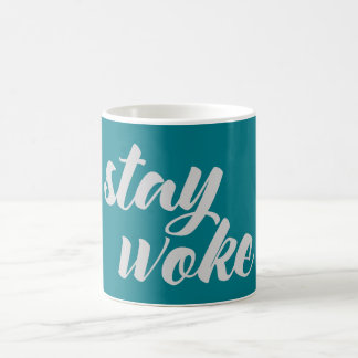 Gray Stay Woke Coffee Mug