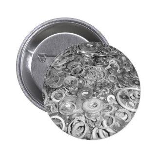 Gray Steampunk Washers Original Art Pins