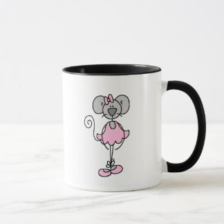 Gray Stick Mouse Ballerina Mug