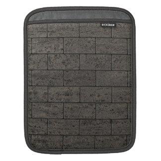 Gray Stone Brick Wall iPad Sleeves