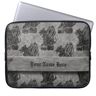 Gray Stone Gargoyles Laptop Sleeve