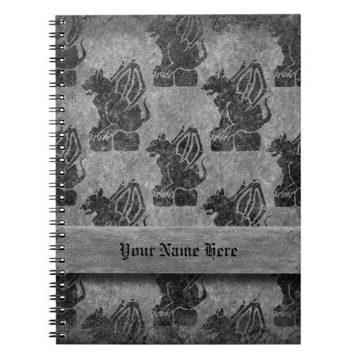 Gray Stone Gargoyles Note Book