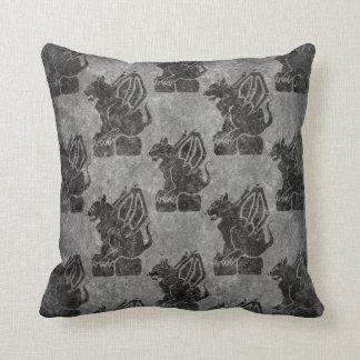 Gray Stone Gargoyles Throw Pillow