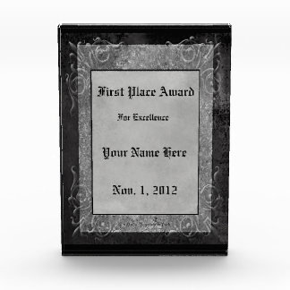 Gray Stone Gothic Scrolls Award