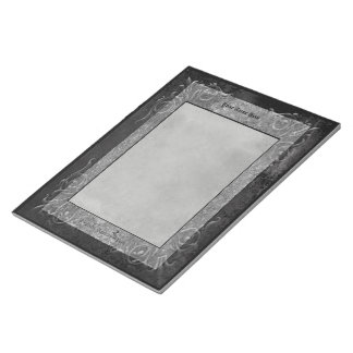 Gray Stone Gothic Scrolls Memo Note Pads