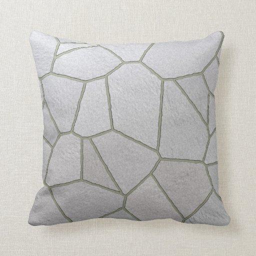 gray stone pattern pillow