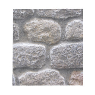 Gray stone wall background note pad