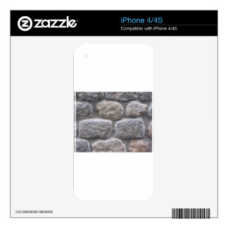 Gray stone wall background skins for the iPhone 4