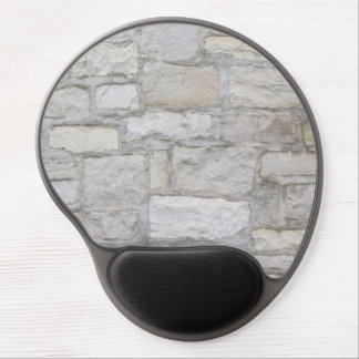 Gray Stone Wall Gel Mouse Pad