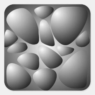 Gray Stones Texture Square Sticker