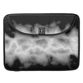 Gray Storm Cloud White Lightning Thunderstorm Look MacBook Pro Sleeve