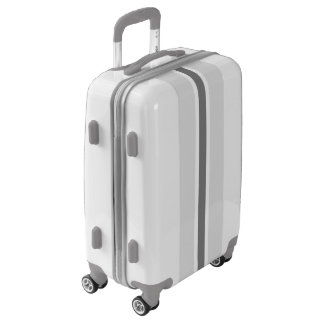 Gray Stripe Luggage Suitcase