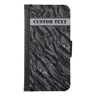 Gray Striped Camo Smartphone Wallet w/ Text