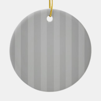 Gray Stripes Christmas Personalized Ornament