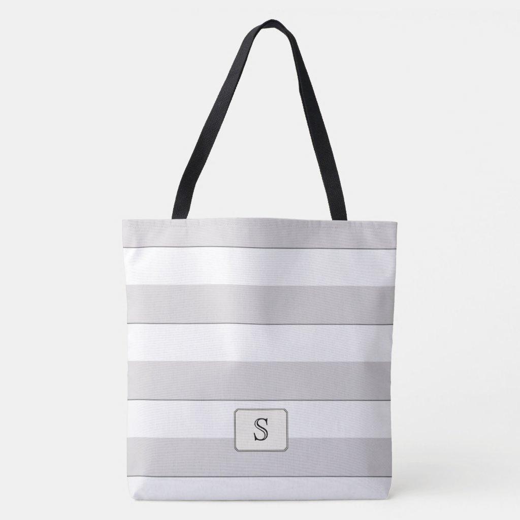 Gray Stripes on any Color Custom Monogram