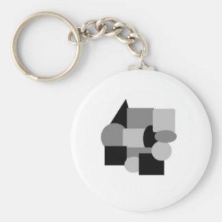 gray stuff 2 basic round button keychain
