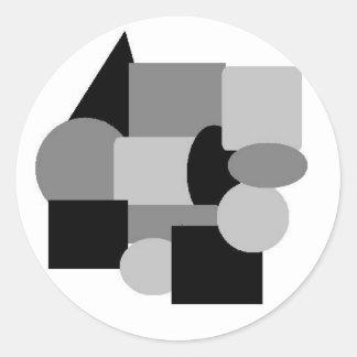 gray stuff 2 classic round sticker