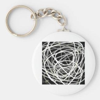 gray stuff basic round button keychain