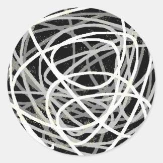 gray stuff classic round sticker