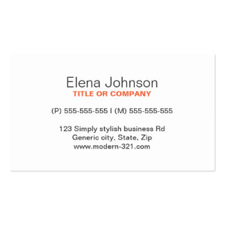 Gray stylish generic simple elegant personal Double-Sided standard business cards (Pack of 100)