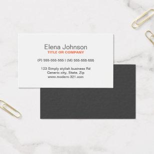 Generic business cards templates zazzle gray stylish generic simple elegant personal business card flashek Images