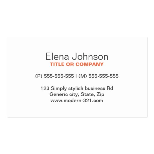 Gray stylish generic simple elegant personal business cards