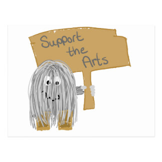 Gray support the arts postcard