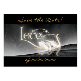 Gray Swan Save the Date Card Large Business Card