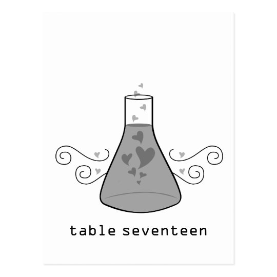 Gray Sweet Chemistry Table Number Postcard