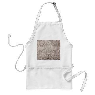 Gray swirls adult apron
