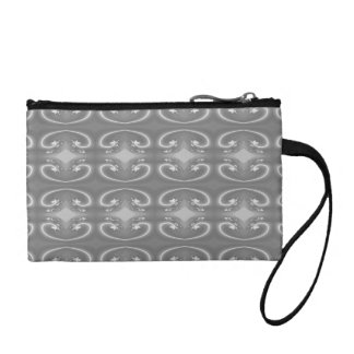Gray Swirls, Elegant Pattern. Change Purse