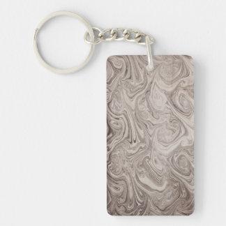 Gray swirls keychain