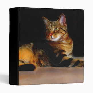 Gray Tabby cat binder
