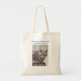 Gray Tabby Cat Budget Tote Bag