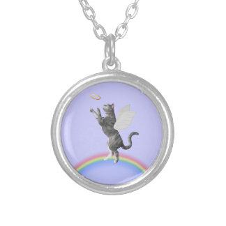 Gray Tabby Cat Catching Halo Jewelry